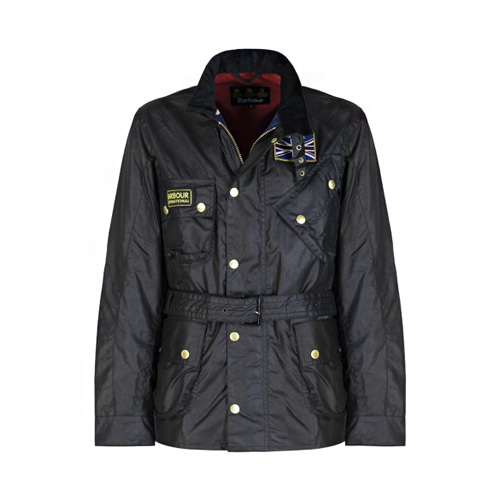 유럽직배송 바버 BARBOUR International Union Jack Waxed Jacket MWX0068BK91