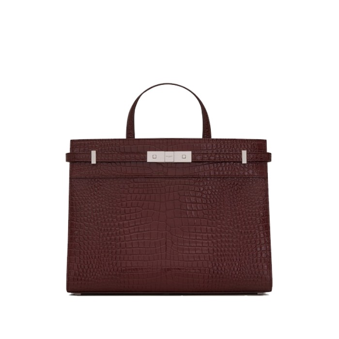 유럽직배송 생로랑 맨하탄 스몰 토트백 YSL MANHATTAN SMALL SHOPPING IN CROCODILE EMBOSSED SHINY LEATHER 568702DND0N6475