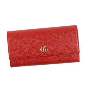 유럽직배송 구찌 GUCCI LEATHER CONTINENTAL WALLET HIBISCUS RED 456116 CAO0G 6433