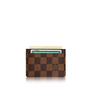 유럽직배송 루이비통 카드 홀더 LOUIS VUITTON CARD HOLDER DAMIER EBENE CANVAS N61722