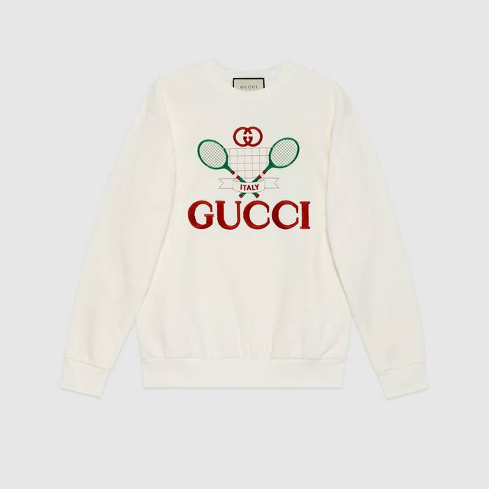 유럽직배송 구찌 GUCCI Oversize sweatshirt with Gucci Tennis 469250XJBIY9381