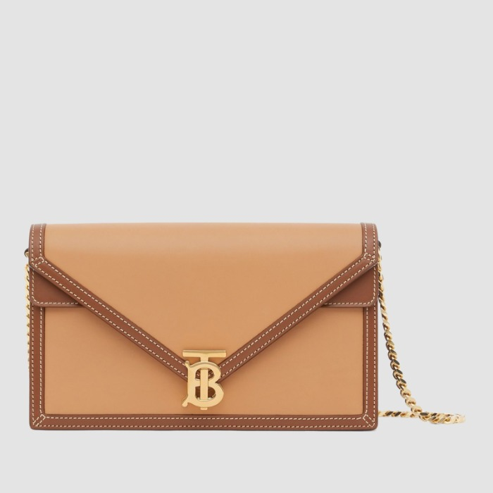 유럽직배송 버버리 스몰 투톤 클러치 BURBERRY Small Two-tone Leather TB Envelope Clutch 80217001