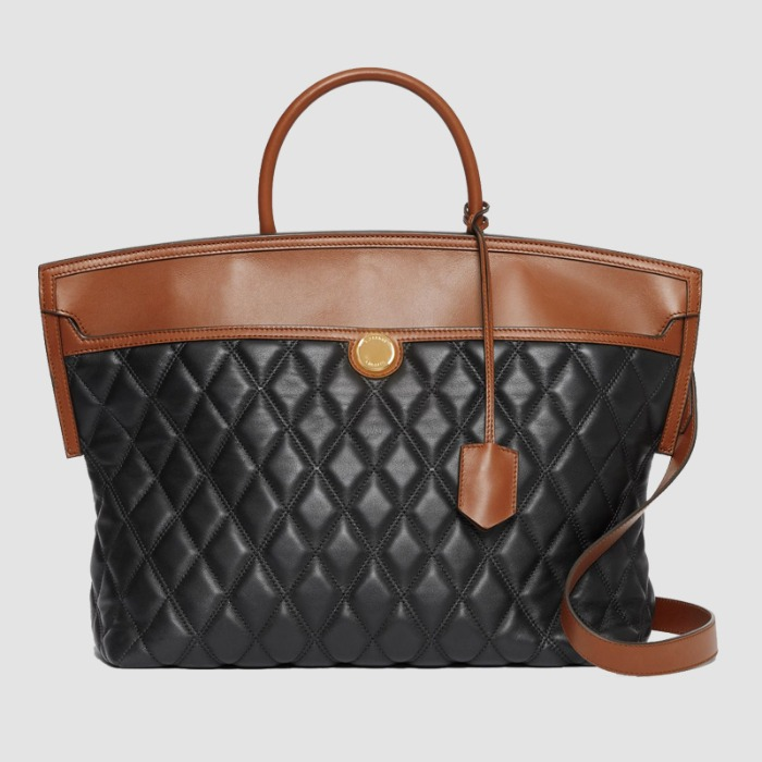 유럽직배송 버버리 토트백 BURBERRY Quilted Lambskin Society Top Handle Bag 80208621