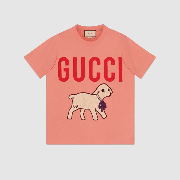 유럽직배송 구찌 GUCCI T-shirt with Gucci lamb 580762XJBSX5774