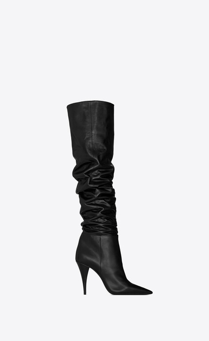 유럽직배송 입생로랑 SAINT LAURENT KIKI boots in shiny leather 5801691FZ001000