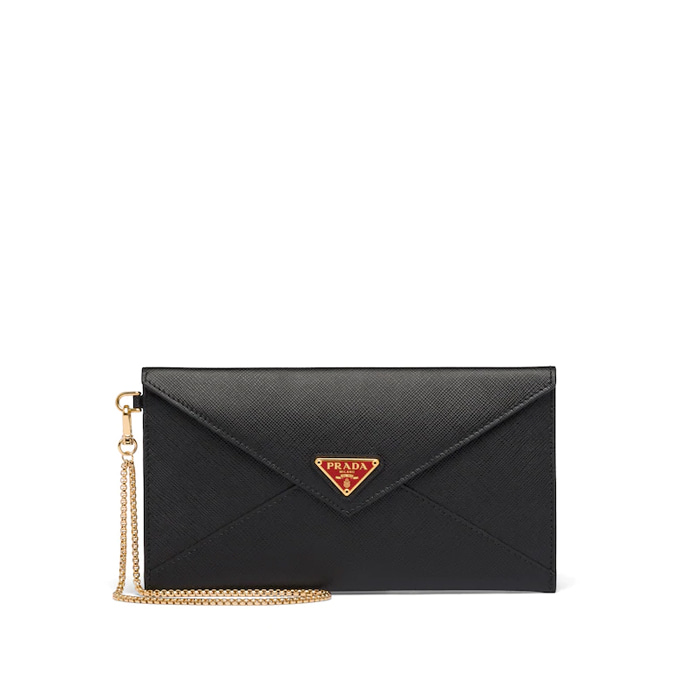 유럽직배송 프라다 클러치백 PRADA Saffiano leather clutch with chain 1MF002_QHH_F0D9A
