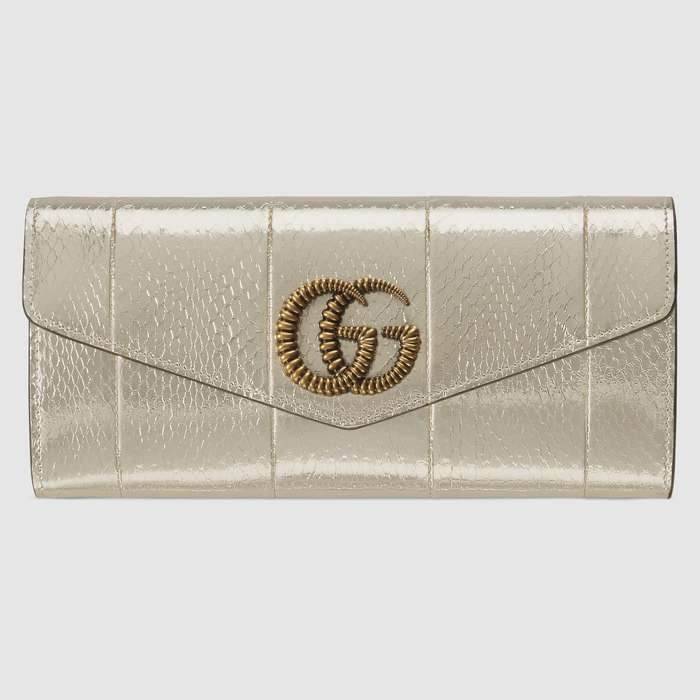 유럽직배송 구찌 GUCCI Gucci Broadway snakeskin clutch with Double G 594101L1N0T7100