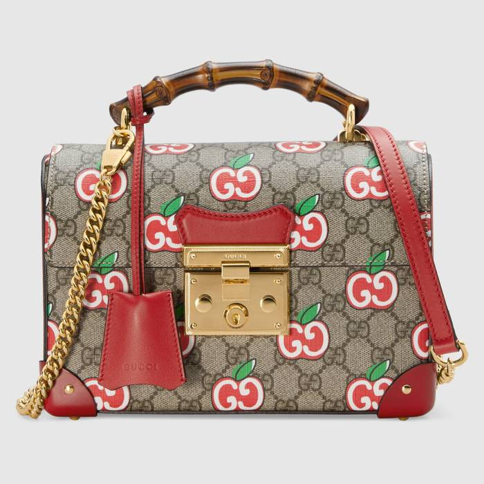 유럽직배송 구찌 GUCCI Gucci Chinese Valentine's Day Padlock small bamboo shoulder bag 6032212EVFG8646