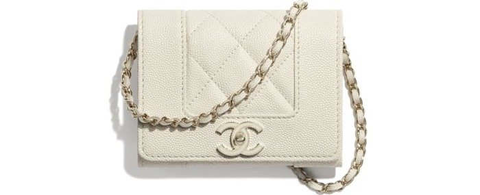 유럽직배송 샤넬 CHANEL Flap Coin Purse with Chain AP1783B04283N9307