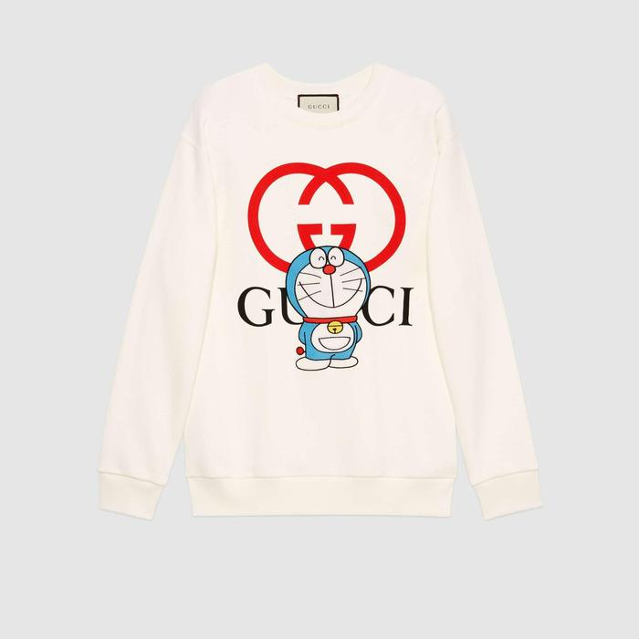 유럽직배송 구찌 GUCCI Gucci - Doraemon x Gucci cotton sweatshirt 617964XJDIC9095