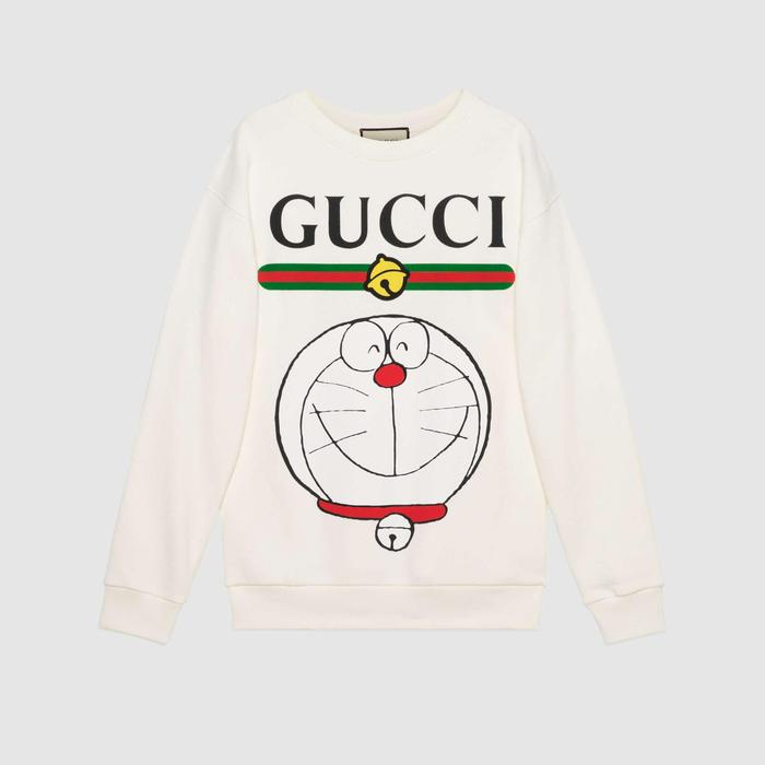 유럽직배송 구찌 GUCCI Gucci - Doraemon x Gucci cotton sweatshirt 617964XJDIK9095