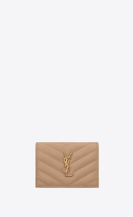 유럽직배송 입생로랑 SAINT LAURENT monogram card case in grain de poudre embossed leather 530841BOWA12721