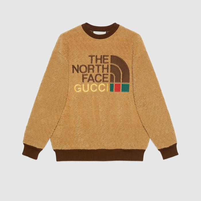 유럽직배송 구찌 GUCCI Gucci - The North Face x Gucci faux fur sweatshirt 644662XJC302184