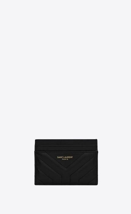 유럽직배송 입생로랑 SAINT LAURENT joan card case in y-quilted leather 650954DV7011000