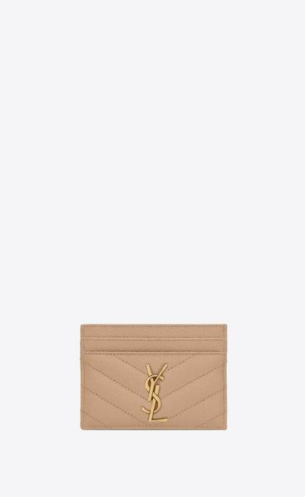 유럽직배송 입생로랑 SAINT LAURENT monogram card case in grain de poudre embossed leather 423291BOW012721