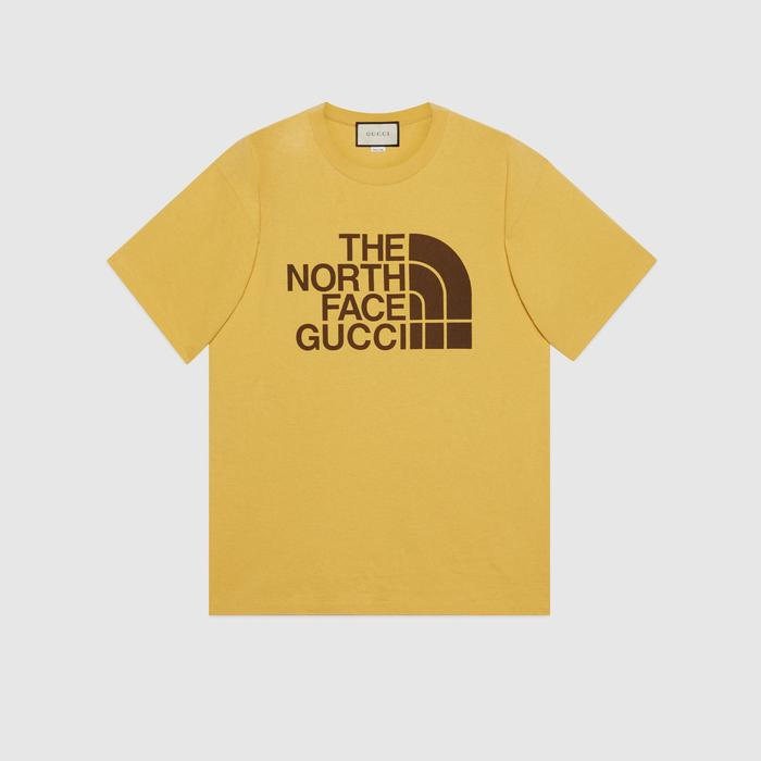 유럽직배송 구찌 GUCCI Gucci - The North Face x Gucci oversize T-shirt 616036XJDCL7201