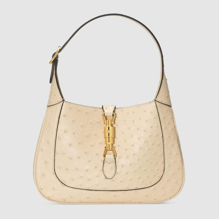 유럽직배송 구찌 GUCCI Gucci Jackie 1961 ostrich small hobo bag 636709EY00G9522