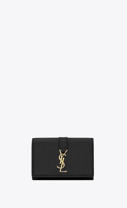 유럽직배송 입생로랑 SAINT LAURENT ysl line key case in grained leather 613334B680J1000