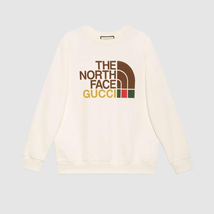 유럽직배송 구찌 GUCCI Gucci - The North Face x Gucci cotton sweatshirt 617964XJDBY9095