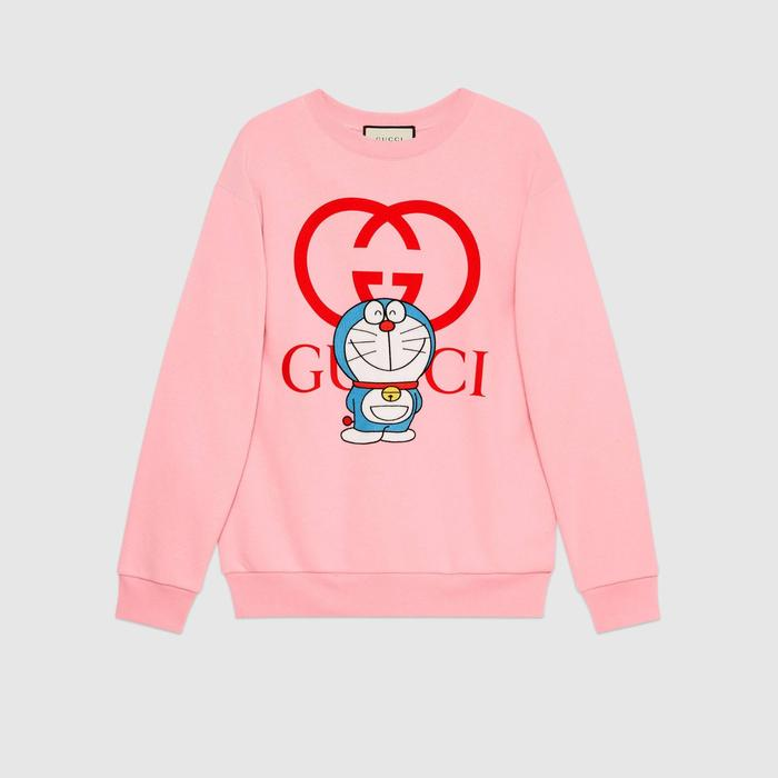 유럽직배송 구찌 GUCCI Gucci - Doraemon x Gucci cotton sweatshirt 617964XJDIC5904