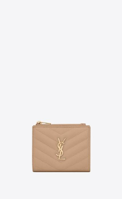 유럽직배송 입생로랑 SAINT LAURENT monogram zipped card case in grain de poudre embossed leather 575879BOW012721