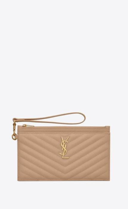 유럽직배송 입생로랑 SAINT LAURENT monogram large bill pouch in grain de poudre embossed leather 636313BOW012721