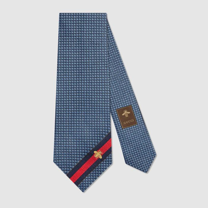 유럽직배송 구찌 GUCCI Gucci Silk tie with bee Web 4565104E0024768