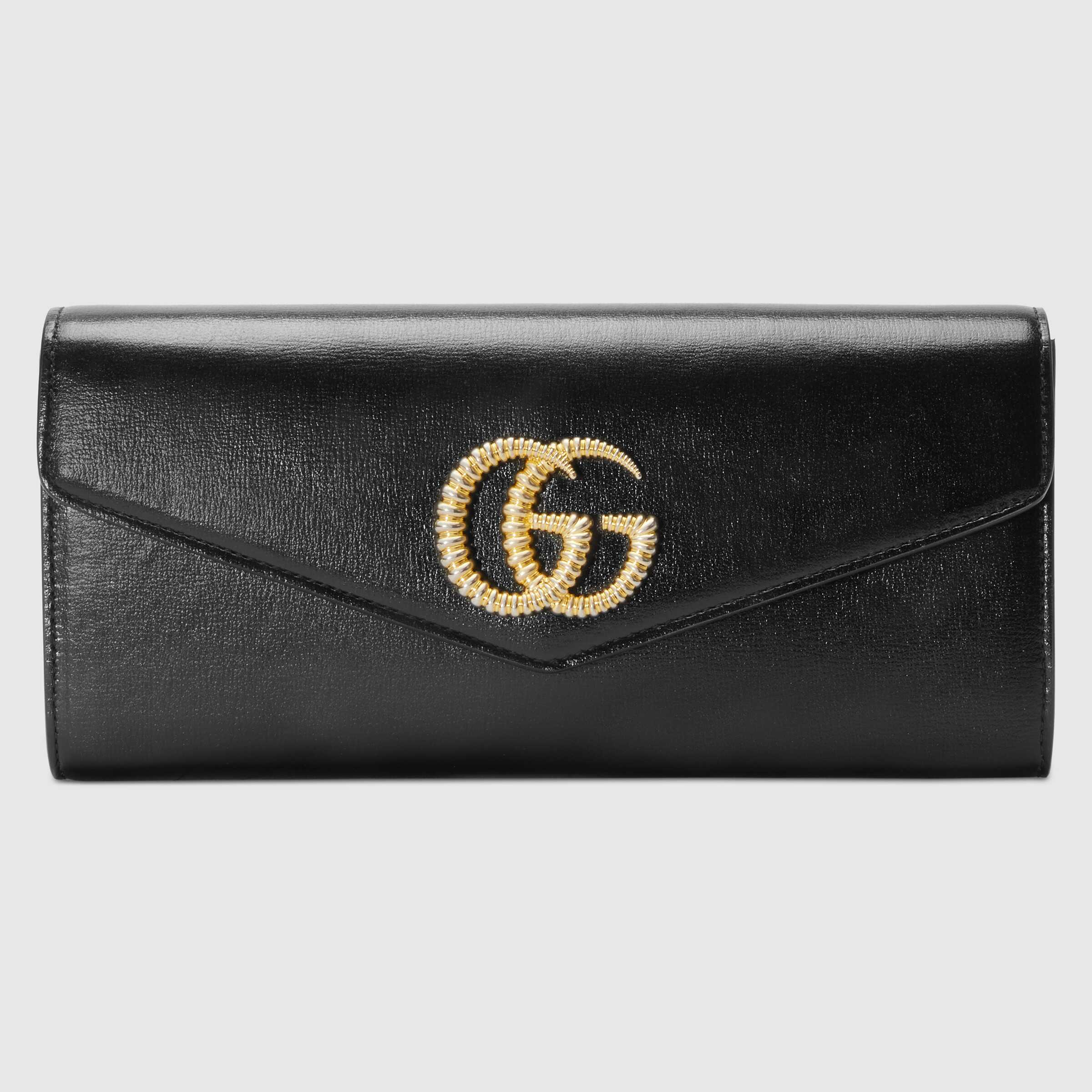 유럽직배송 구찌 클러치 GUCCI Broadway leather clutch with Double G 5941011DB0G1000