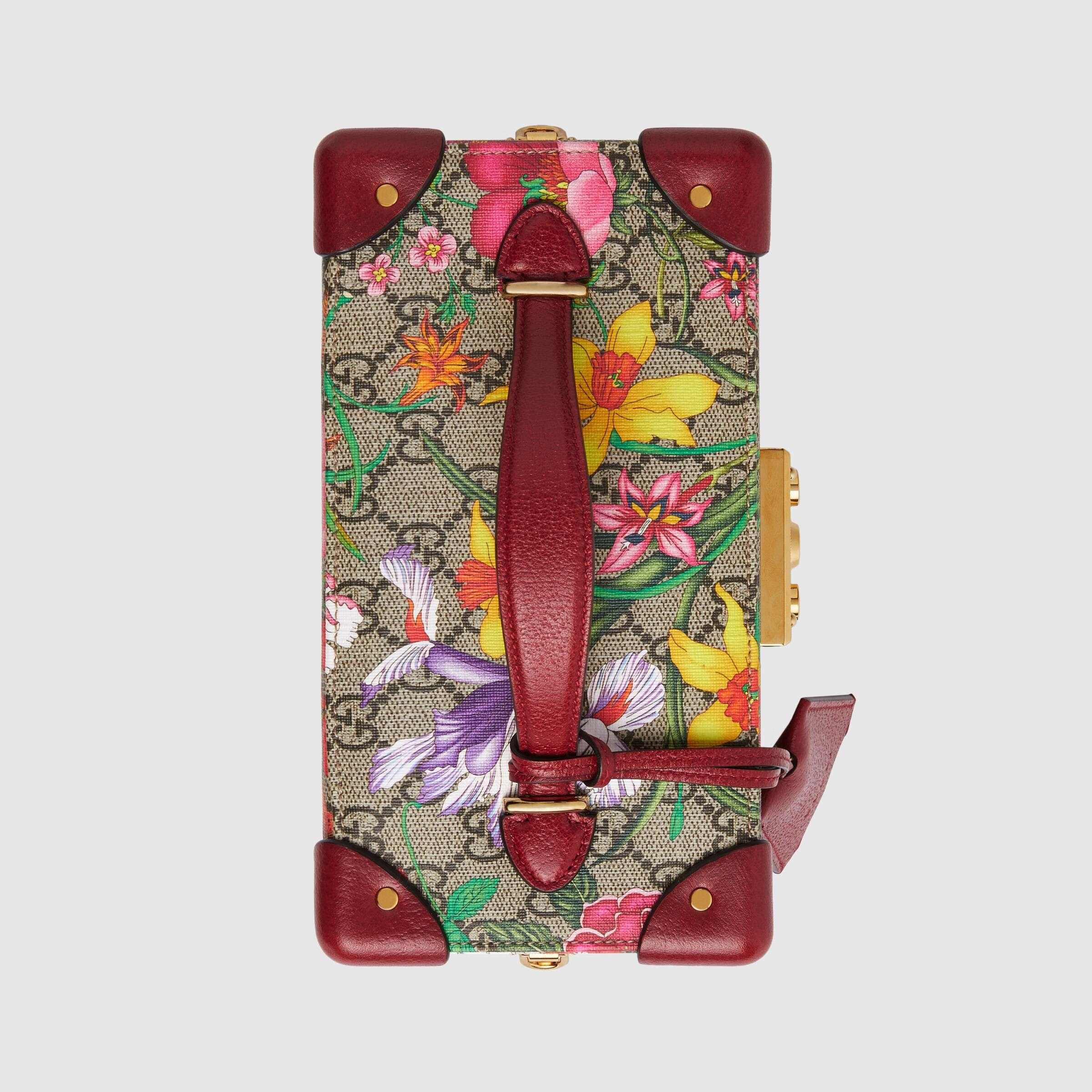 유럽직배송 구찌 GUCCI Padlock GG Flora jewellery case 57638692YEC8658
