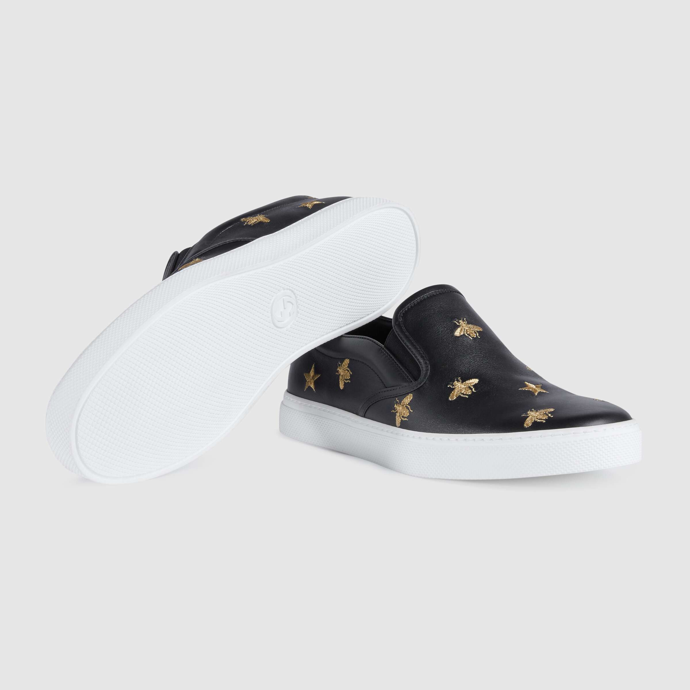 유럽직배송 구찌 GUCCI Men's slip-on sneaker with bees 407364AXWB01076