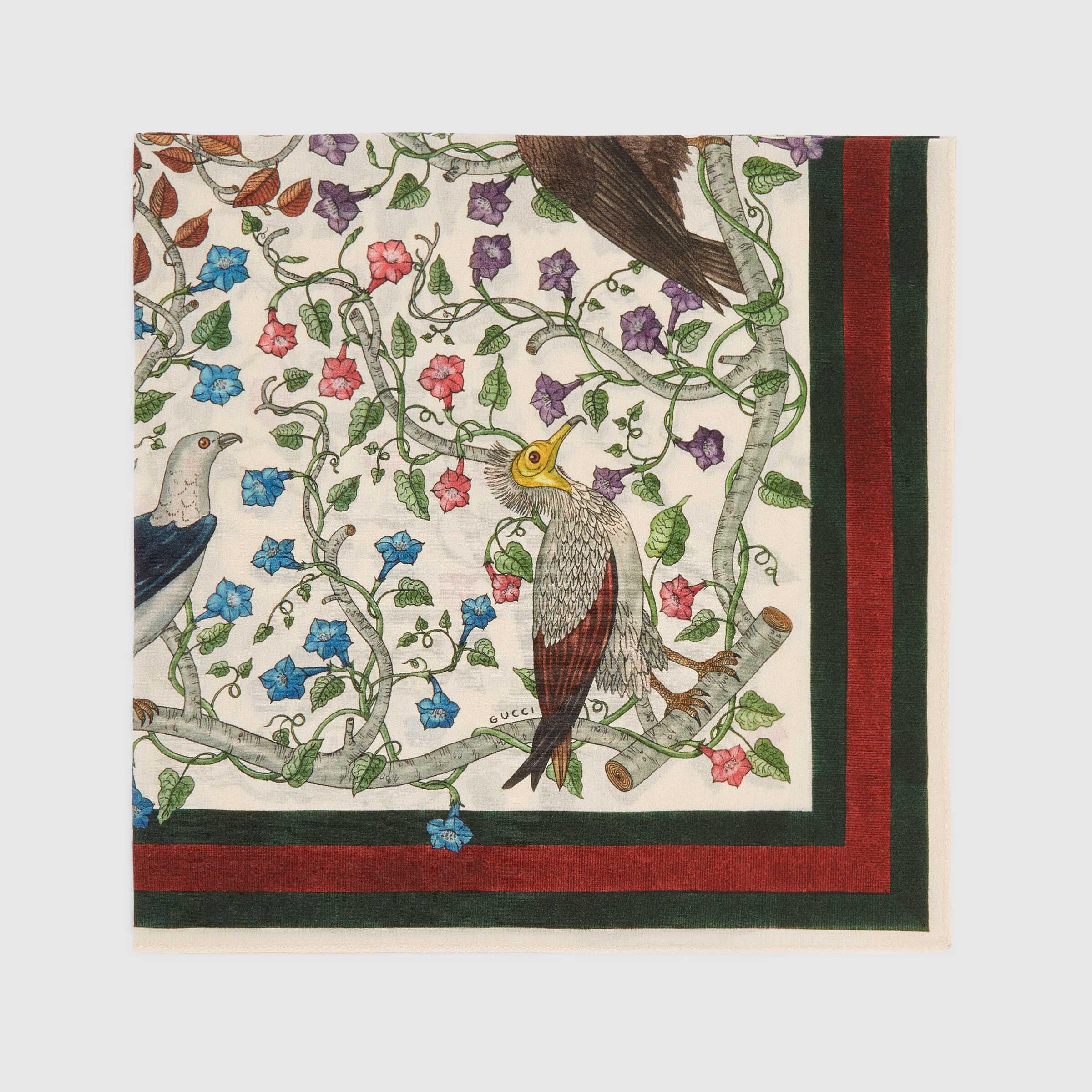 유럽직배송 구찌 GUCCI Rapaci print silk pocket square 4092364G0059266