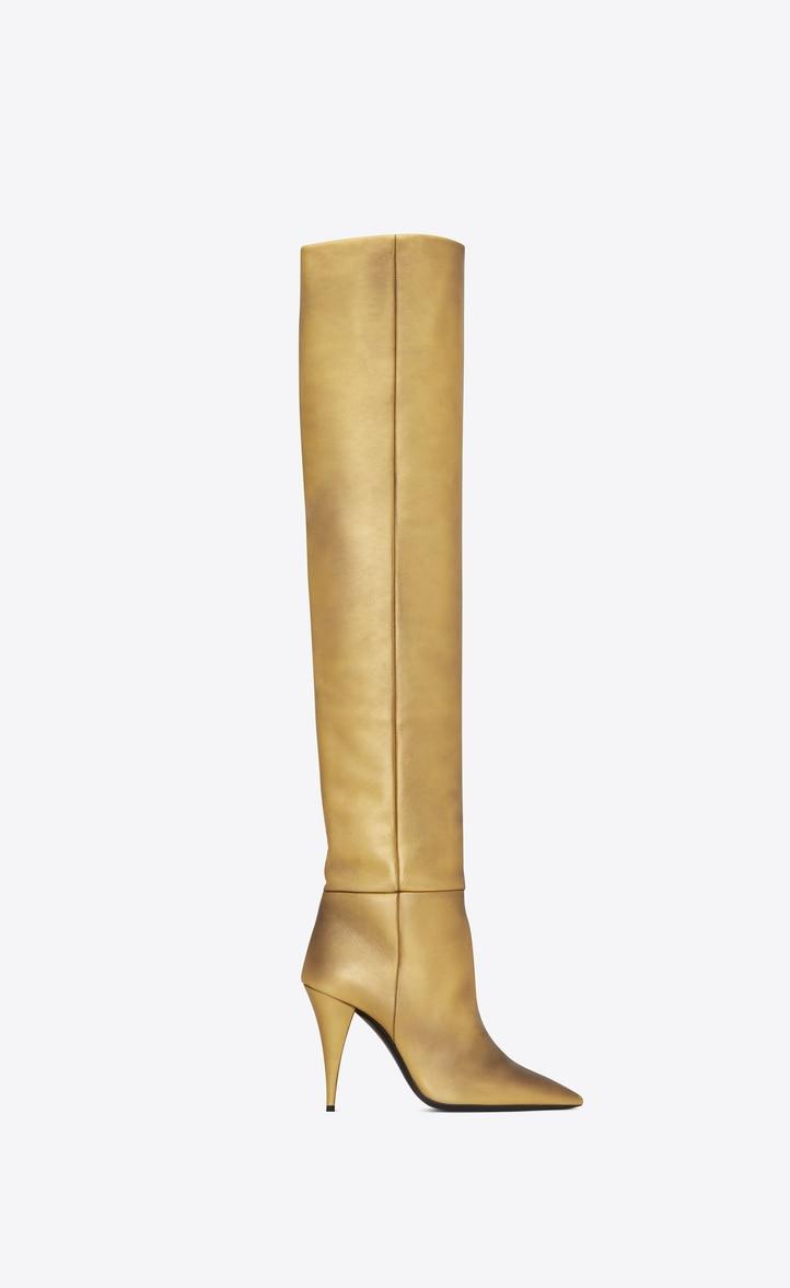 유럽직배송 입생로랑 SAINT LAURENT KIKI boots in metallic leather 58017106S008097