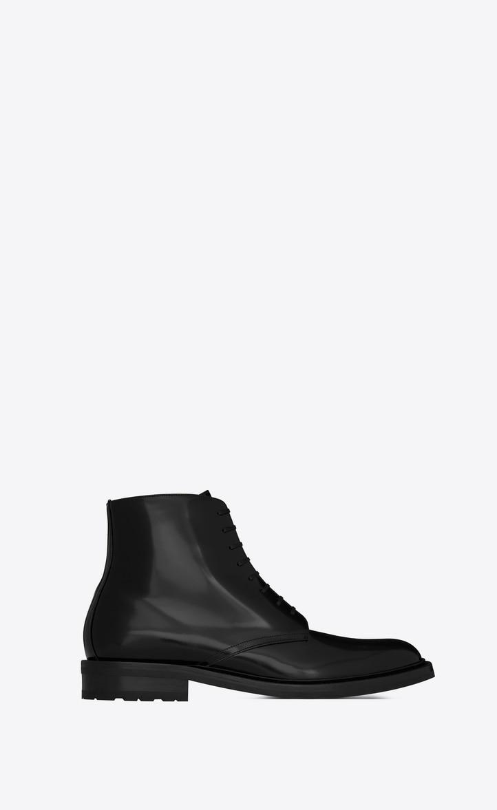 유럽직배송 입생로랑 SAINT LAURENT ARMY boots in shiny leather   581861BSS001000