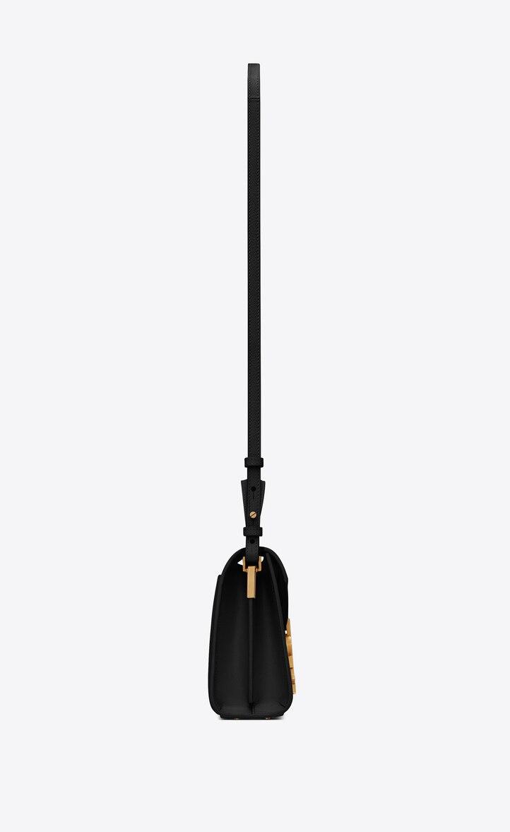 유럽직배송 입생로랑 SAINT LAURENT CASSANDRA Mini top handle bag in grain de poudre embossed leather 602716BOWNW1048
