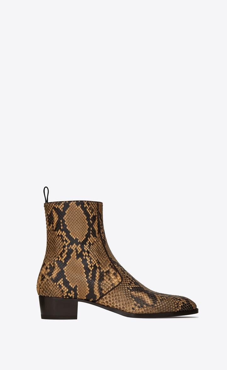 유럽직배송 입생로랑 SAINT LAURENT WYATT zipped boots in python 606747LX1007019