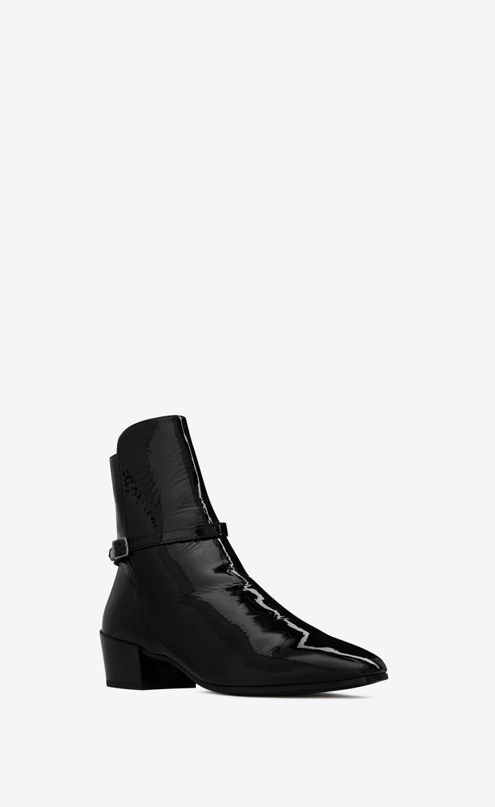 유럽직배송 입생로랑 SAINT LAURENT CLEMENTI buckle boots in patent leather 5865521LA001000