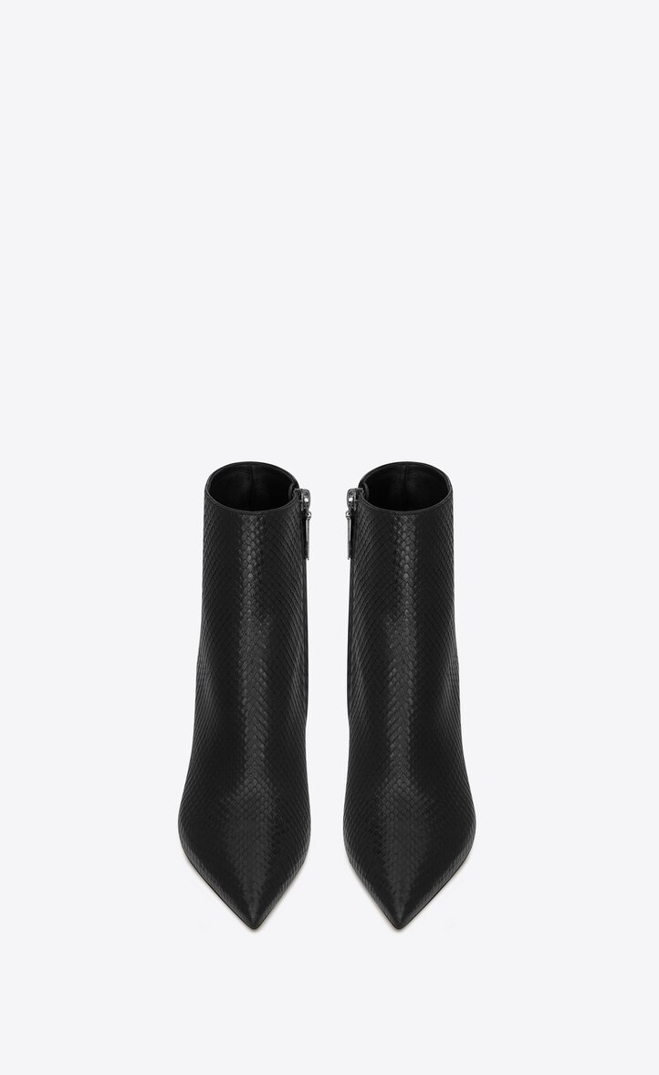 유럽직배송 입생로랑 SAINT LAURENT KATE boots in lacquered python 603979LVQ001000