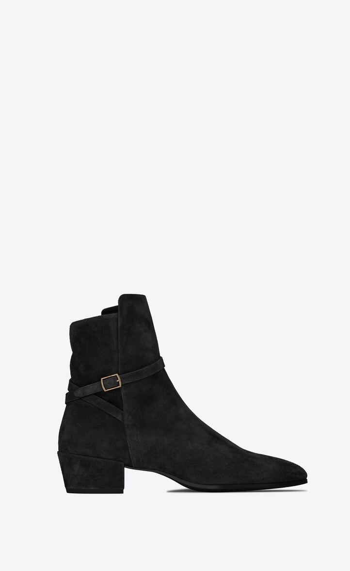 유럽직배송 입생로랑 SAINT LAURENT CLEMENTI buckle boots in suede 5865520LI001000