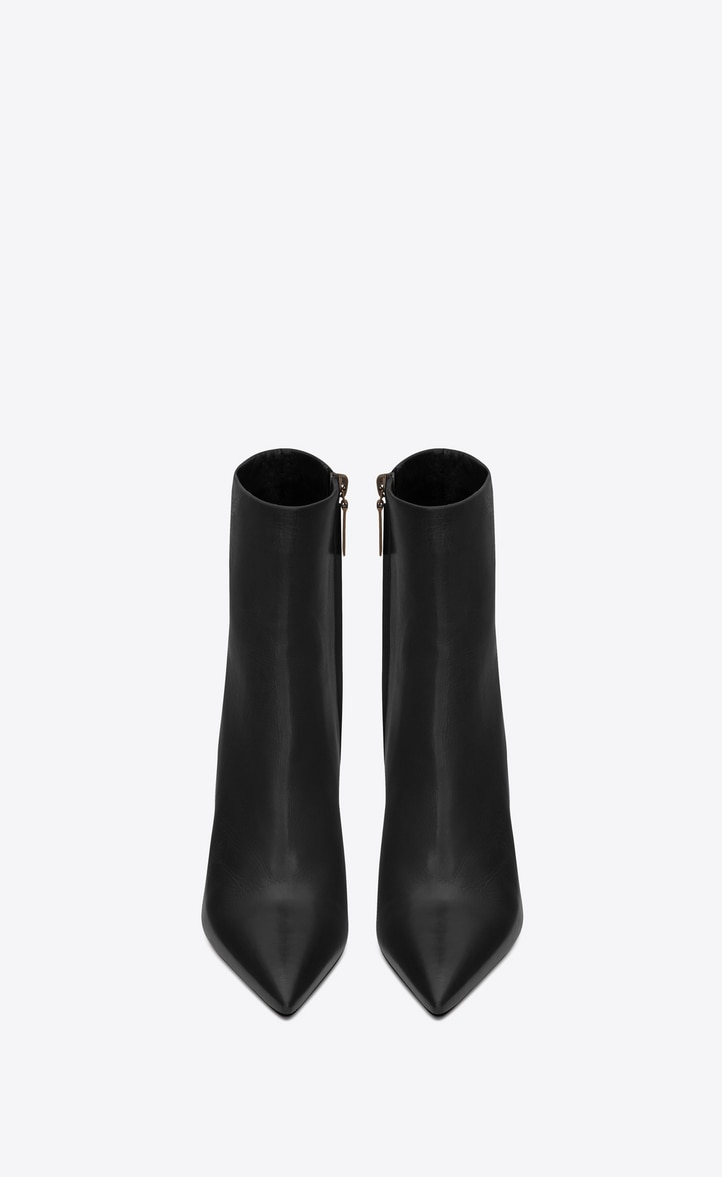 유럽직배송 입생로랑 SAINT LAURENT OPYUM leather ankle boots with bronze snake heel   5789221FZDD1000