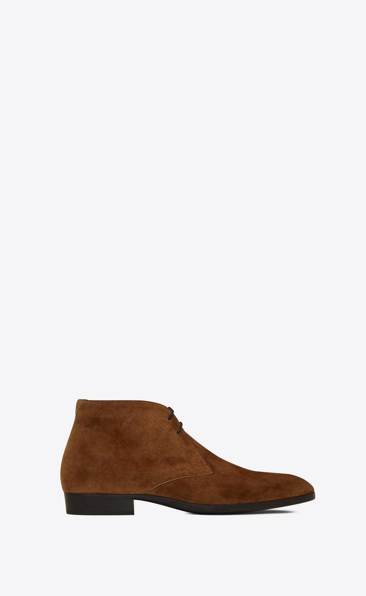 유럽직배송 입생로랑 SAINT LAURENT WYATT laced desert boots in suede  5819520LI002330