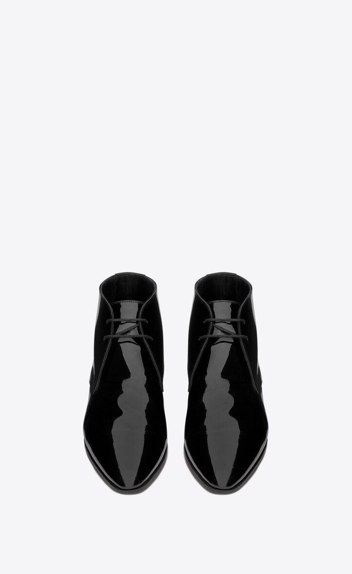 유럽직배송 입생로랑 SAINT LAURENT JONAS Laced boots in patent leather 5797510D5001000