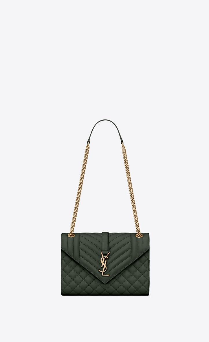 유럽직배송 입생로랑 SAINT LAURENT Envelope Medium bag in MIX MATELASSÉ grain de poudre embossed leather 487206BOW913045