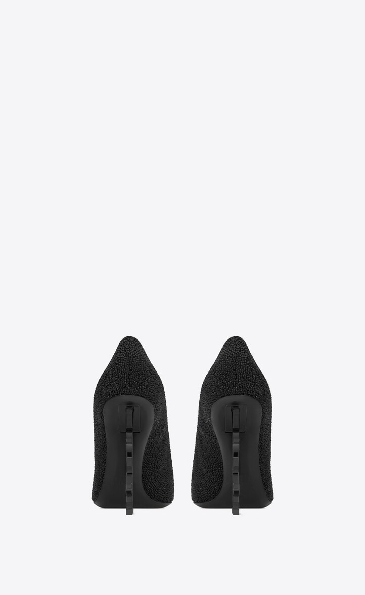 유럽직배송 입생로랑 SAINT LAURENT OPYUM pumps in crystal-decorated suede with a black heel 578947C20VV1000