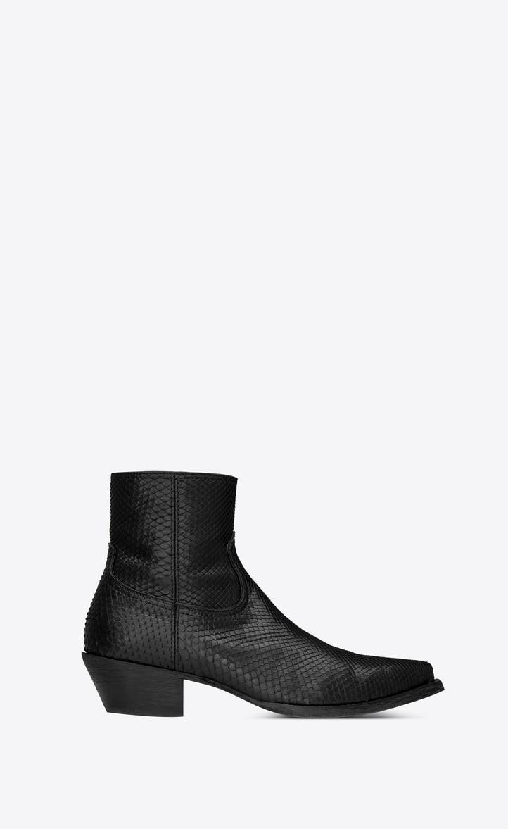 유럽직배송 입생로랑 SAINT LAURENT Lukas boots in python 530839LFQ001000