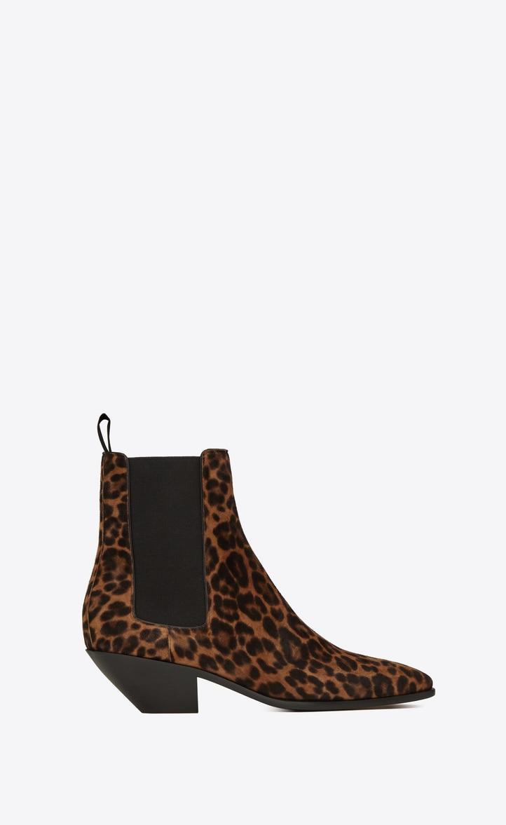 유럽직배송 입생로랑 SAINT LAURENT WEST Chelsea boots in leopard suede 6106631FL002198