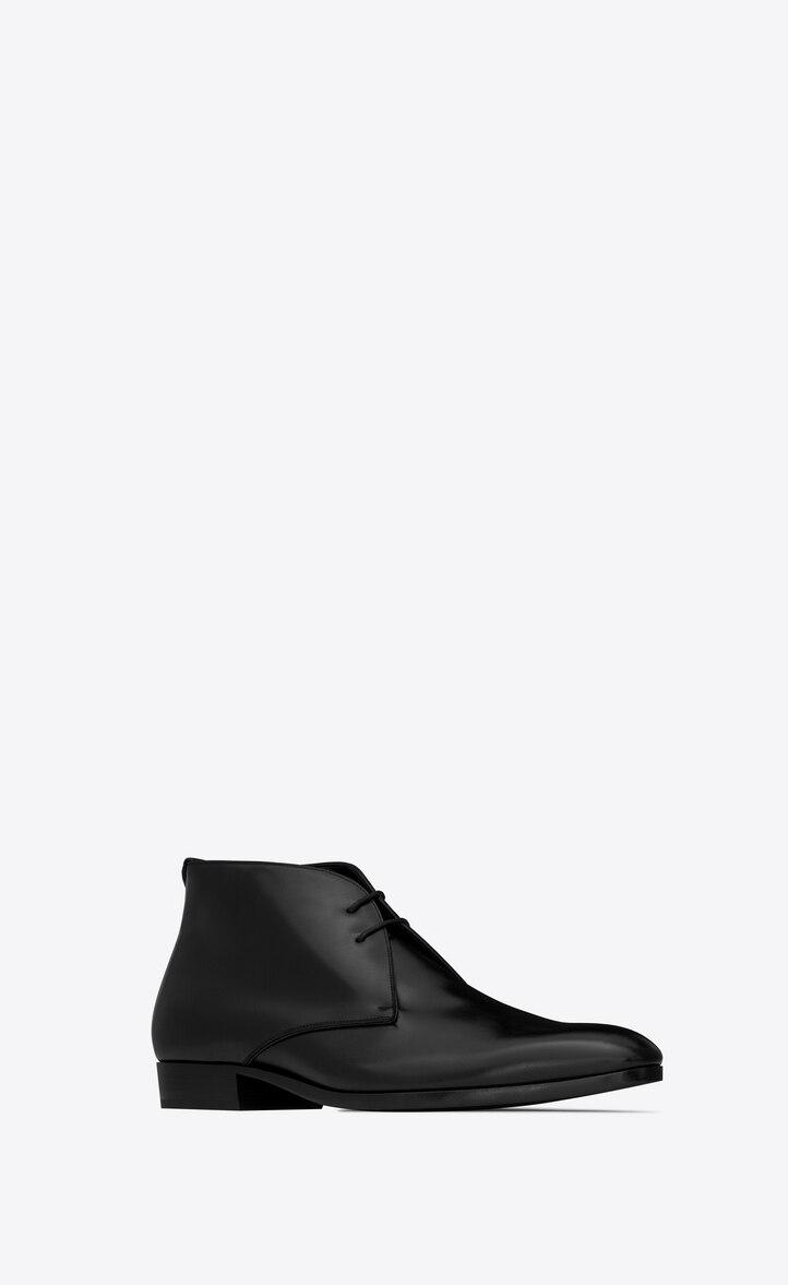 유럽직배송 입생로랑 SAINT LAURENT WYATT lace-up boots in smooth leather 6032041OO001000