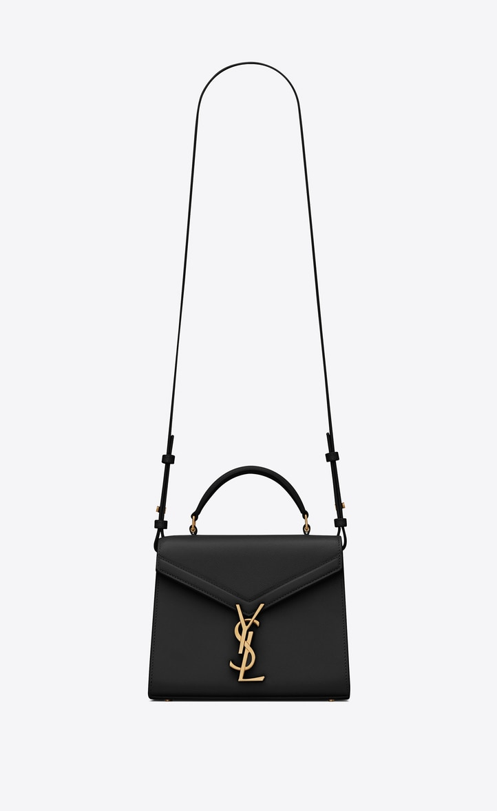 유럽직배송 입생로랑 SAINT LAURENT CASSANDRA Mini top handle bag in grain de poudre embossed leather 602716BOWNW1048