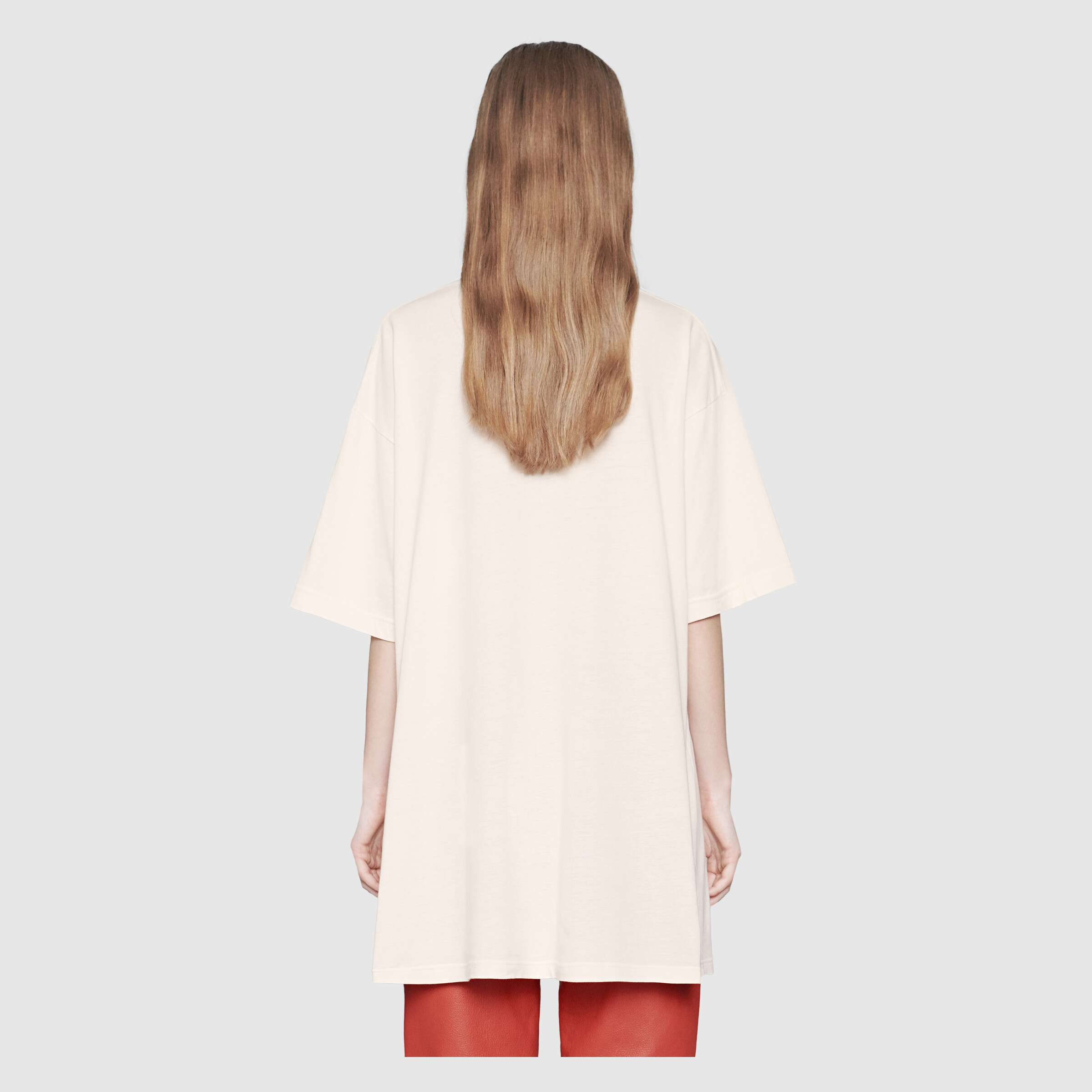 유럽직배송 구찌 GUCCI Oversize T-shirt with Interlocking G 539081X3Q357561