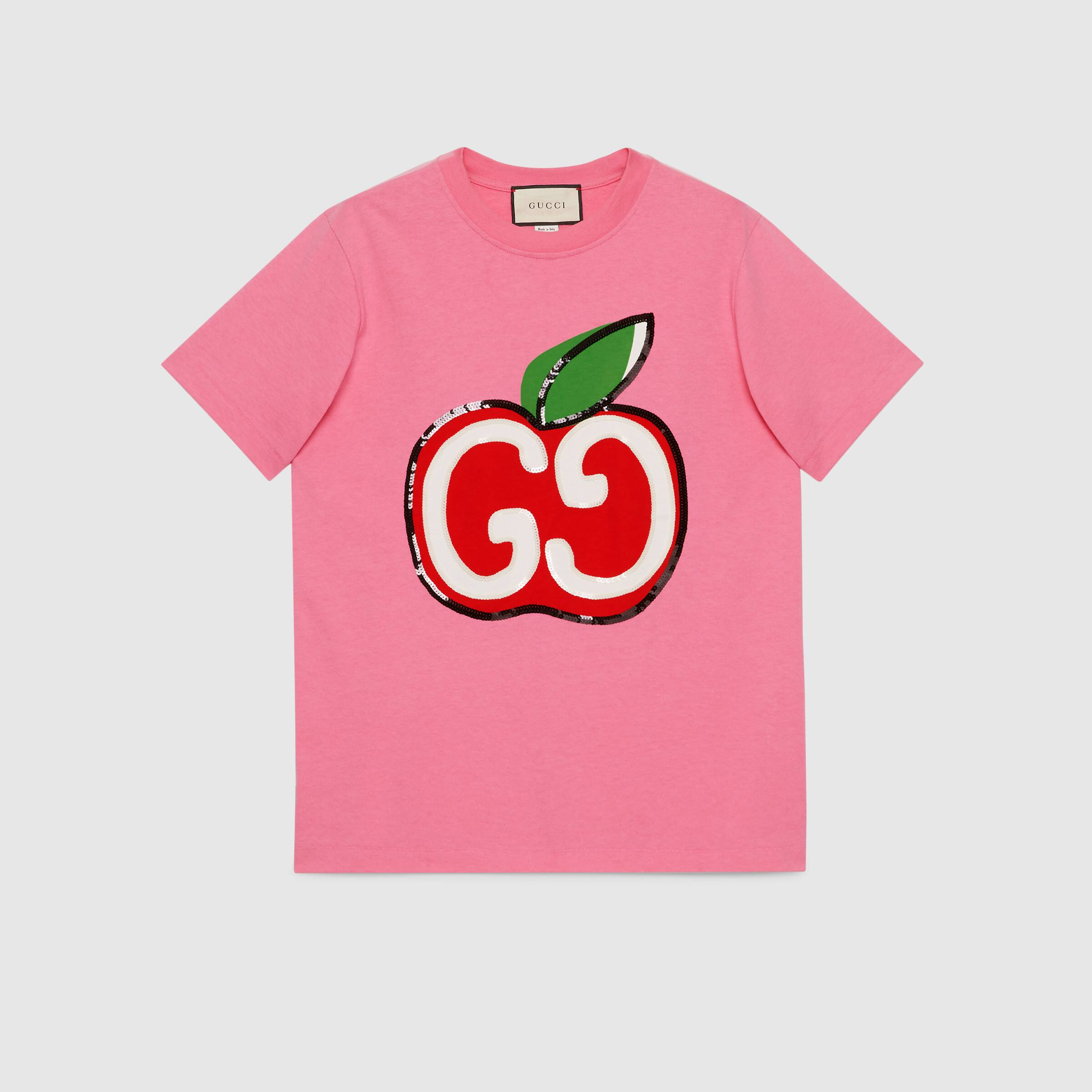 유럽직배송 구찌 GUCCI T-shirt with GG apple print 580762XJB7U5412
