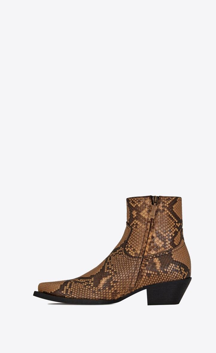 유럽직배송 입생로랑 SAINT LAURENT LUKAS boots in python 534821LX1007019